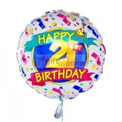 21st Birthday Four Balloon