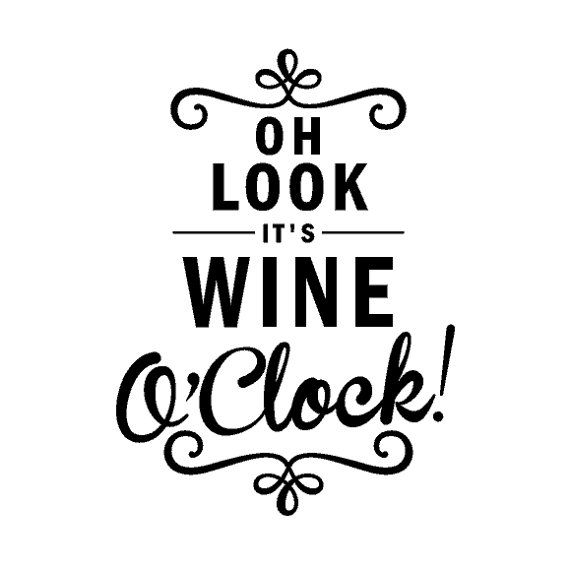 Wine O'Clock Kitchen Wall Decal - Wine Clock Decal - FREE SHIPPING on Etsy, $9.99