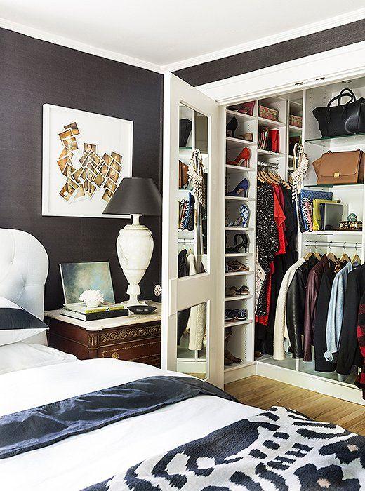 tour michelle adamss sophisticated michigan home small bedroom closetssmall - Bedroom Closet Ideas