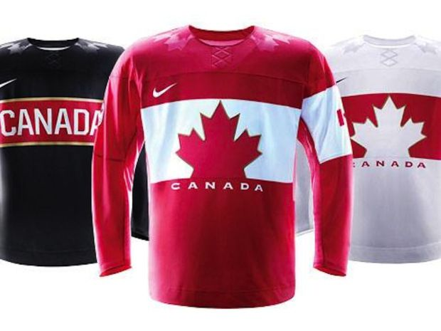 Here is Team Canada's hockey jersey for the 2014 Sochi Olympics