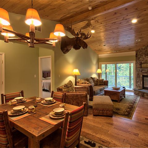 Knotty Pine Ceiling Sage Green Walls I Can Skip The Moose Head Though Future Farmhouse Pinterest Sage Green Walls Moose Head And Knotty Pine