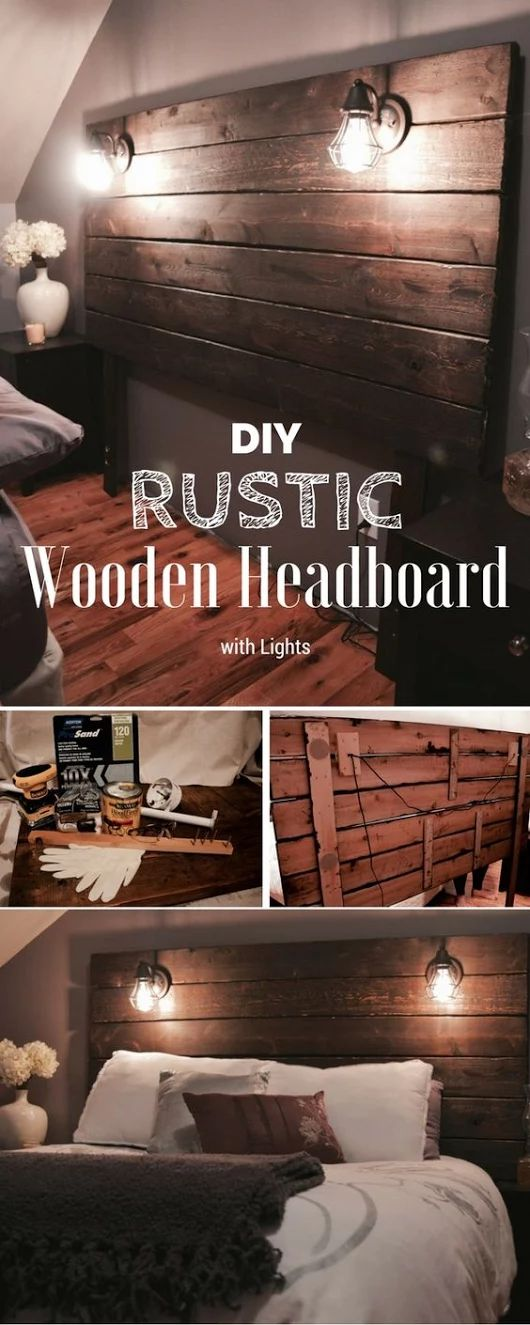 DIY Rustic Headboard
