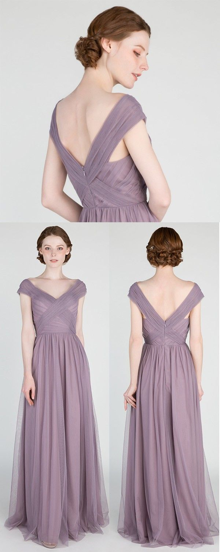 Elegant Long Off Shoulder Tulle Bridesmaid Dress Tbqp420 Tulle Bridesmaid Dress Off Shoulder Bridesmaid Dress Bridesmaid Dresses