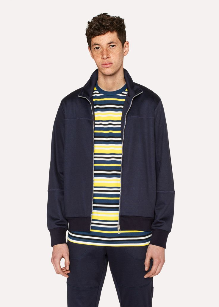 Stylish and great smart casual wear describes this soft cotton navy cotton panelled #jacket from @PaulSmithDesign 😍😍
