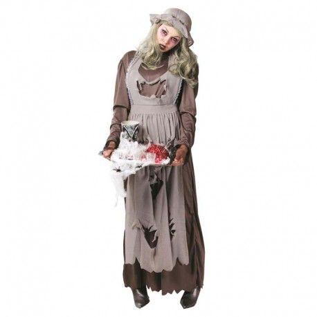Disfraces Halloween mujer   Disfraz de doncella zombie. ¡Ya está aquí el apocalipsis zombie! Contiene vestido haraposo, delantal, gargantilla y gorro. Talla M. 19,95€ #doncella #zombie #doncellazombie #disfrazdoncella #disfrazzombie  #disfraz #halloween #disfrazhalloween #disfraces