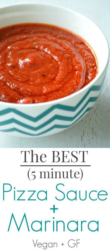 Undoubtedly, the BEST Pizza sauce ever! And it also doubles as marinara if needed. Vegan. Gluten Free. Hot. Delicious. Fast. Easy.