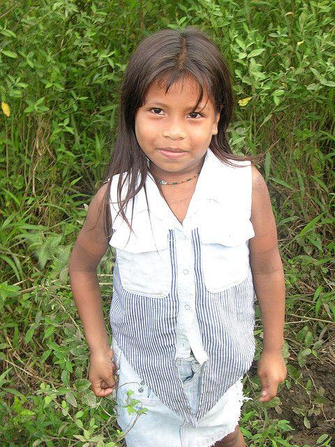 Embera girl in Ipeti, Panama