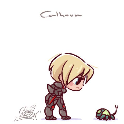 Sgt. Calhoun & Cybug by David Gilson - Wreck-It Ralph
