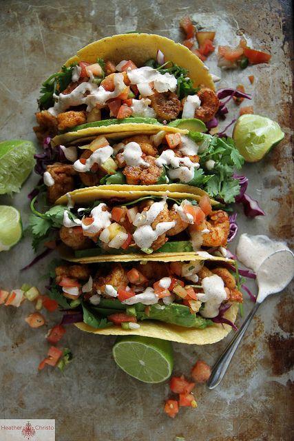 Chipotle Shrimp Tacos by Heather Christo, via Flickr