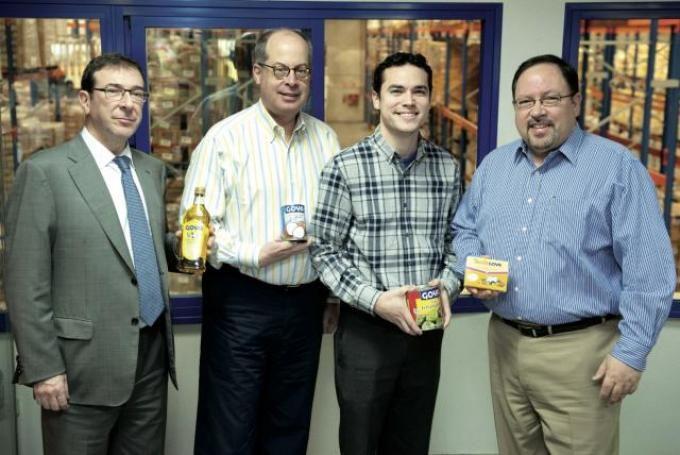 Responsables de Goya Foods, empresa fundada en 1936 por un emigrante burgalés.