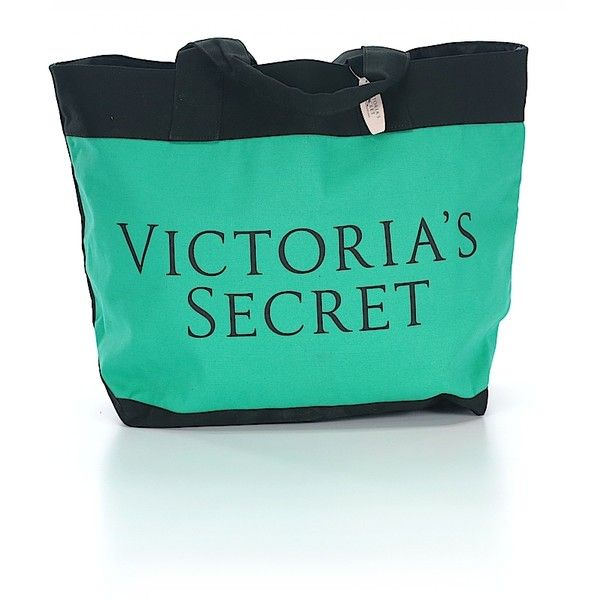 Victoria's Secret Tote (€36) ❤ liked on Polyvore featuring bags, handbags, tote bags, teal, purse tote bag, tote handbags, purse tote, tote purses and green handbags