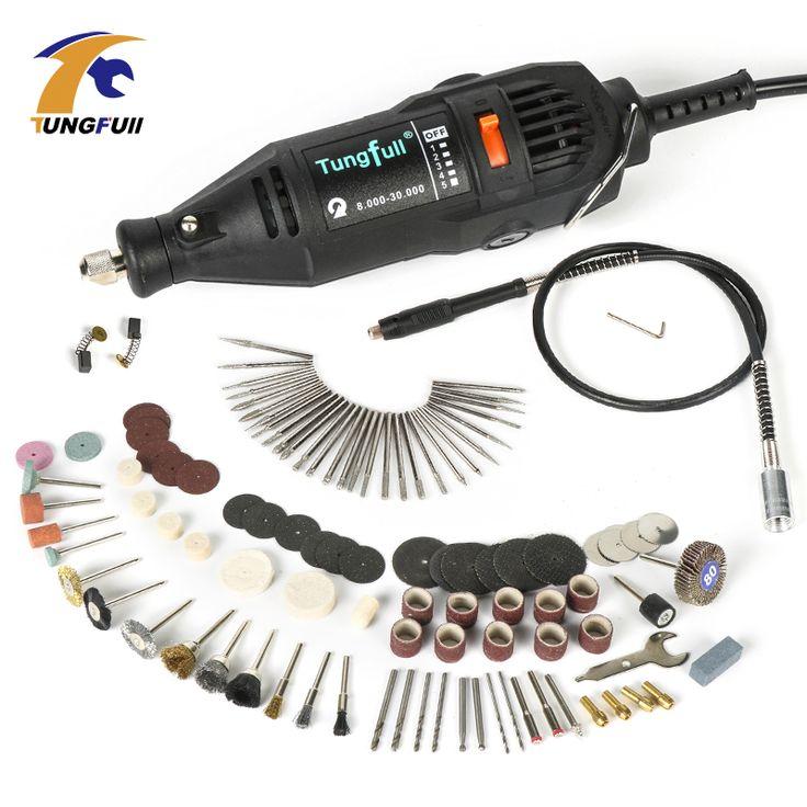 Électrique Outils Électriques Mini Drill Outils Rotatifs accessoires avec 106 pcs forage bits de coupe disques de ponçage papier flex arbre
