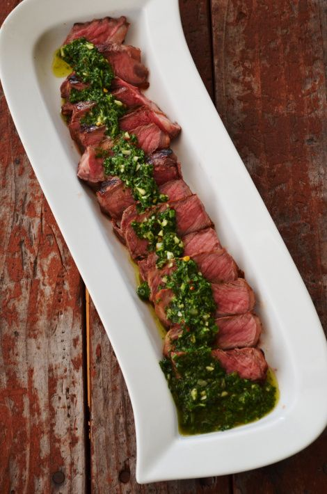 ARGENTINIAN STEAKS WITH CHIMICHURRI SAUCE recipe from CuredByBacon