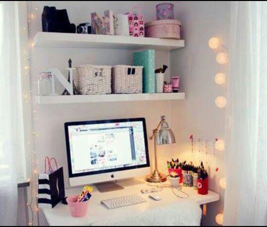 17 mejores ideas sobre cuarto con escritorio peque o en - Escritorio para habitacion ...