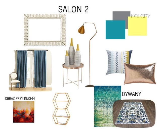 sALON2 by magdalena-grycz on Polyvore featuring interior, interiors, interior design, dom, home decor, interior decorating, Karl Lagerfeld, Ballard Designs, CB2 and Vanguard