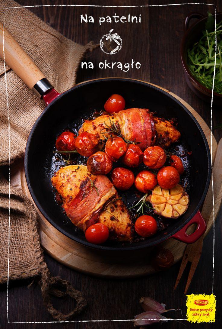 WINIARY POMYSŁ NA... PAPIRUS Soczysta pierś kurczaka w suszonych pomidorach z bazylią