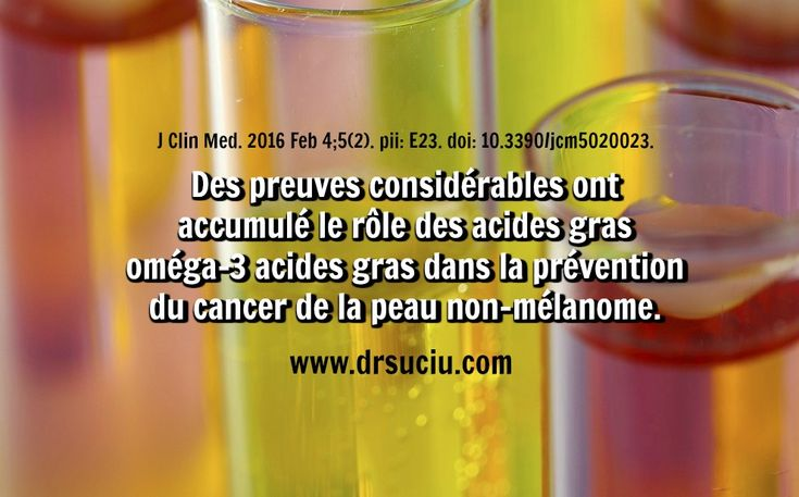 Photo Les Oméga 3 contre le cancer de la peau - drsuciu