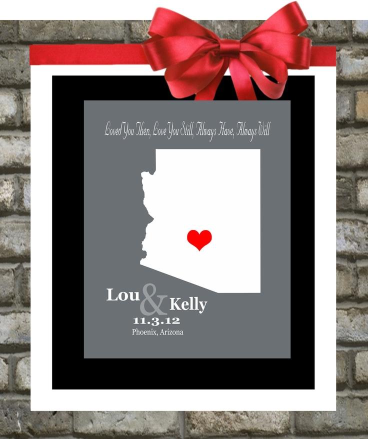 Arizona Print Custom Map Art ANY State