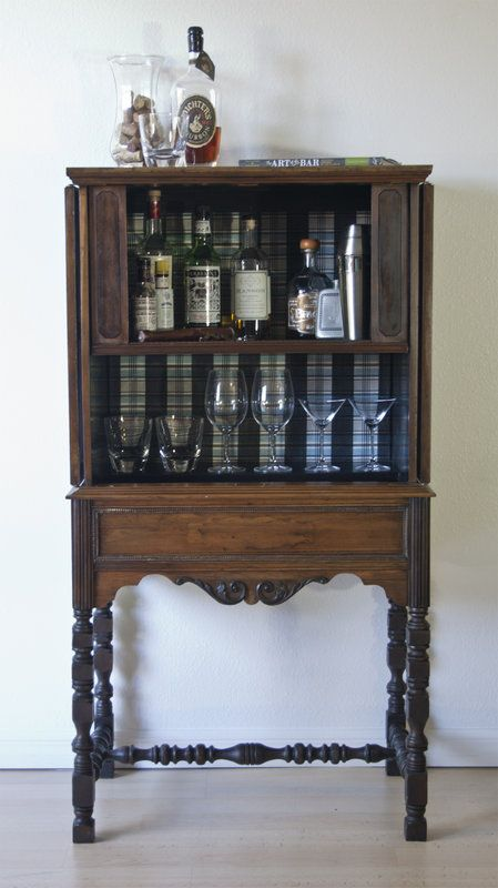 Antique Liquor Cabinet in East Los Angeles, California ~ Apartment Therapy Classifieds