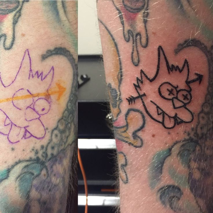 Death to scratchy ✖️✖️ #scratchy #thesimpsons #tattoo #freehand