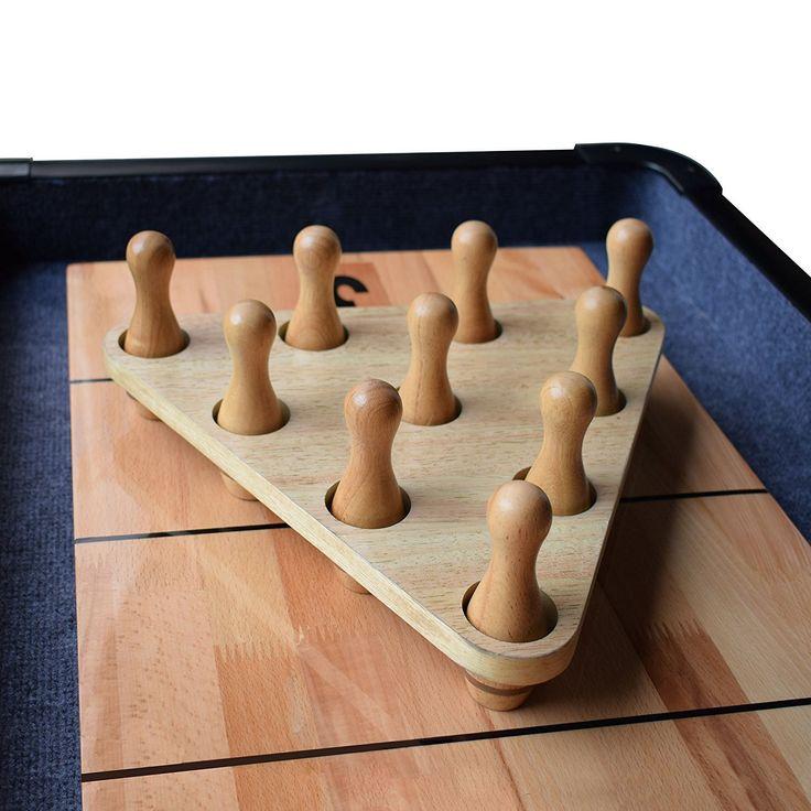 Shuffleboard Bowling Pin Set Shuffleboard pucks, Bowling