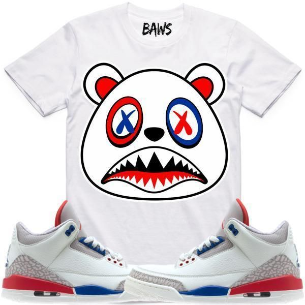 Baws T-Shirt USA BAWS Sneaker Tees Shirt - Jordan 3 International Flight   Sneakers e0a3631a3