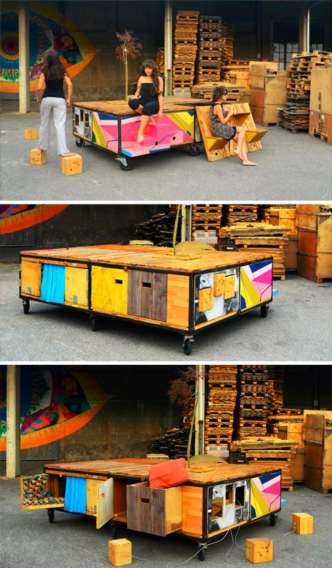 """Too cool, a """"Porta-Park"""" Mobile Urban Square the Size of a Parking Spot. Looks perfect for a place like Oakland, CA!"""