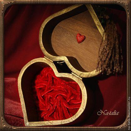 Подарки для влюбленных ручной работы. Ярмарка Мастеров - ручная работа. Купить Шкатулка Сердечко. Handmade. Сердечко, красный, сердце, дерево