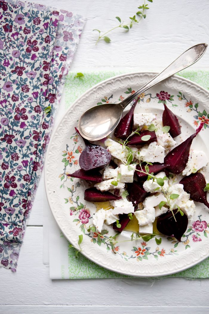 beetroot with feta cheese - a simple and delicious dish