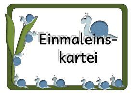 Kruschkiste: Kleine Einmaleinskartei