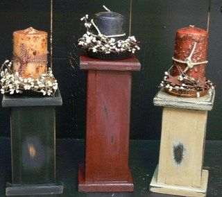 Country Wood Crafts | Burgundy Wood Candle Pillar 12 in. :: Wood Crafts :: Wholesale Country ...
