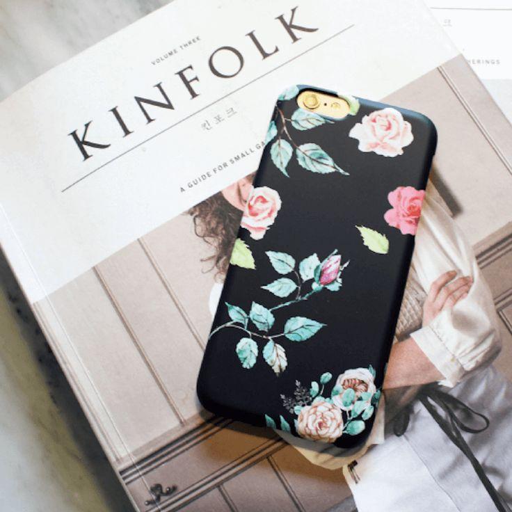 Flower in Black  Beautiful Back Phone Case (UN-1703)