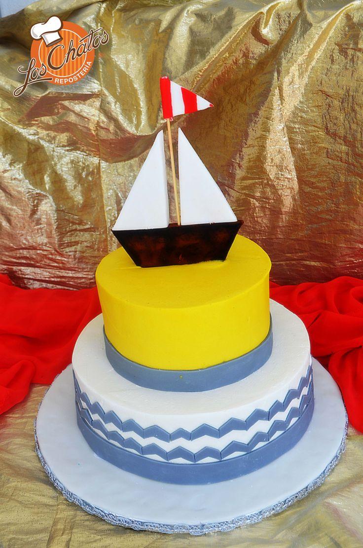Pastel de velero #velero #pastel #cake #puertovallarta loschatos.com