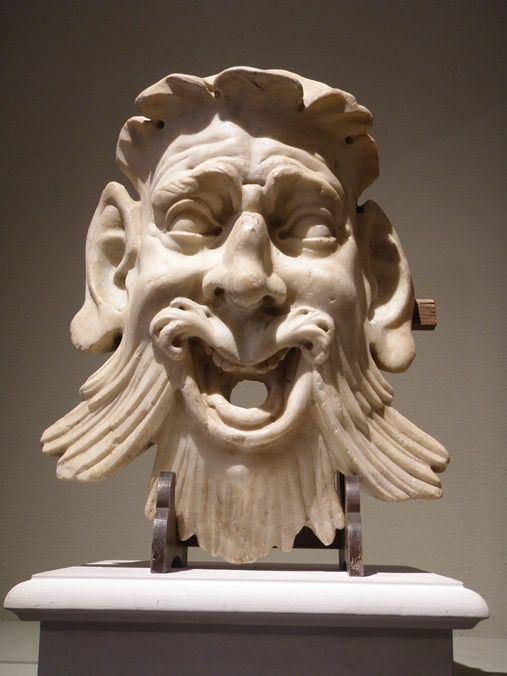 White marble grotesque mask (Florence 1531) Sculptor near the manners of Bernardo Buontalenti