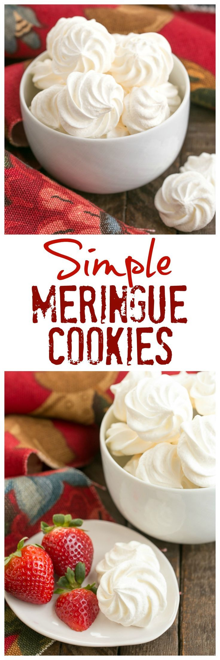 Simple Meringue Cookies | Sweet, ethereal, melt in your mouth cookies /lizzydo/