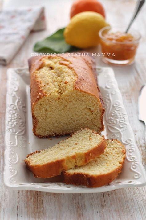 Plumcake sofficissimo con spremuta di arancia alla panna senza olio e burro