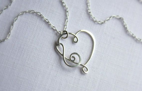 I Have Music in My Heart Necklace by wirewrap on Etsy