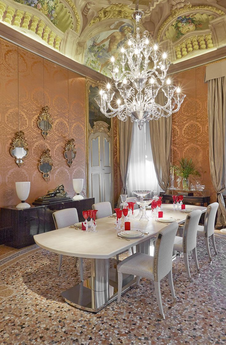 552 best GLAMOROUS DINING ROOMS images on Pinterest Dining room