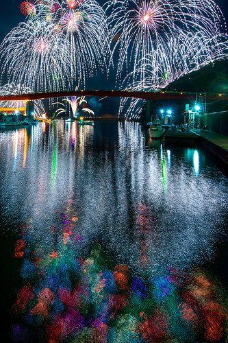 Fireworks in Mie, Japan