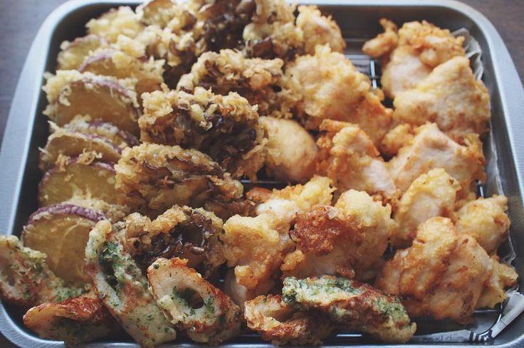 04.20 夕ご飯はありもので #天ぷら (息子がまだ帰って来てないのに揚げちゃった) by hrk_hsmr