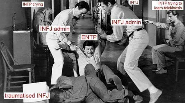 Hahahahaa! When an infj moderates any group #mbti #meme