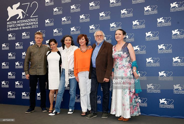 Producer Walter Navas, guest, actress Patricia Reyes Spindola, screenwriter Paz Alicia Garciadiego, director Arturo Ripstein and actress Nora Velazquez attend a photocall for 'La Calle De La Amargura' during the 72nd Venice Film Festival at Palazzo del Casino on September 10, 2015 in Venice, Italy.