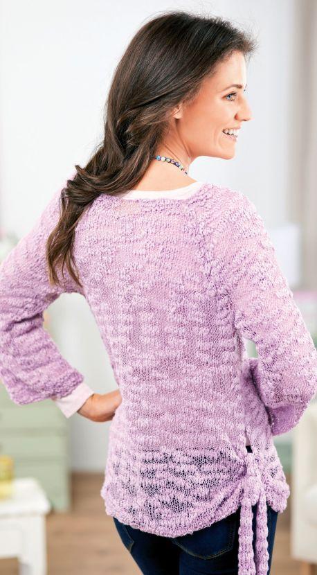 Simple lace-effect tunic | Knitting patterns, Free ...
