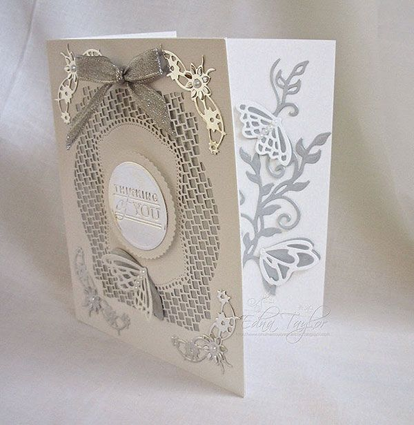 Blog tonic: Pick of the Day new release - Deco trellis base die - thinking of you card from Edna