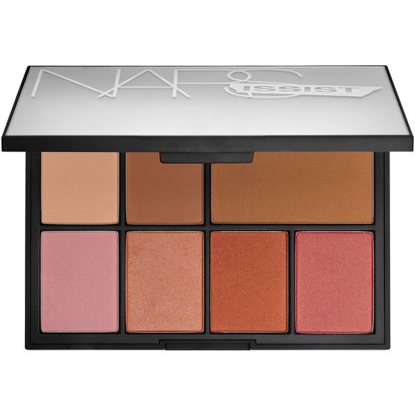 NARS NARSissist Cheek Studio Palette ($65) ❤ liked on Polyvore featuring beauty products, makeup, beauty, nars cosmetics, palette makeup and highlight makeup
