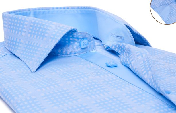 Blue Checkered Shirt (Double Twisted)  $89.90 USD