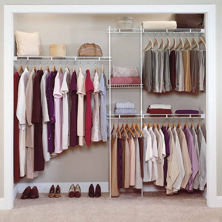 furniture inspiring idea of open closet for small bedroom with small white metal organizer designed with shelf and cloth hangers dressing area spot in