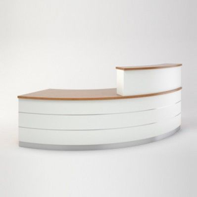 Contor - White curved reception desk