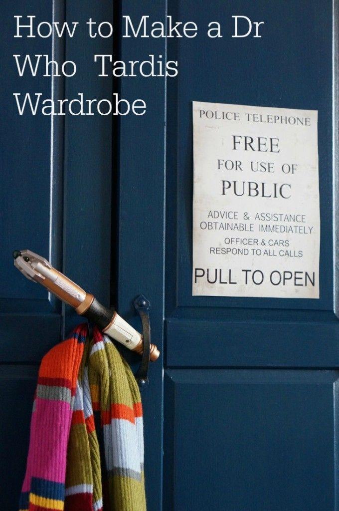 How to make a Dr Who Tardis Wardrobe - #tardis #diy #upcycle