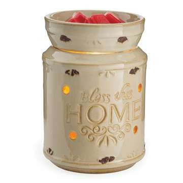 Bless This Home Cream Candle Warmer